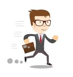 Business man runs to success vector image vector image