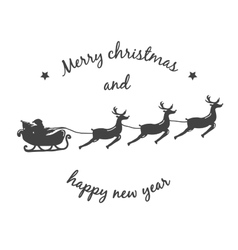 Christmas background with Santa Claus on a sleigh vector image