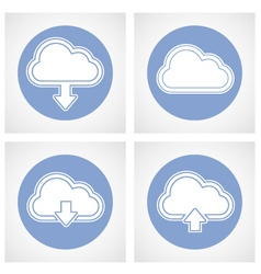 Cloud computing icon - online storage vector image vector image