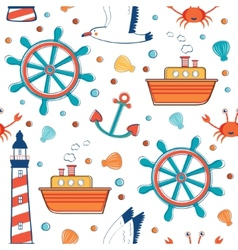 Colorful sea pattern vector