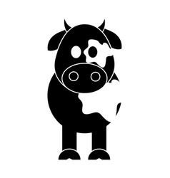 Cow cute animal cartoon icon image vector