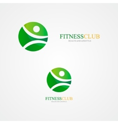 Fitness design logo vector image vector image