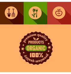Flat organic products design elements vector