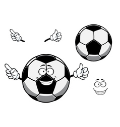 Football or soccer ball sporting mascot cartoon vector image