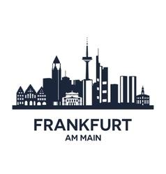 Frankfurt skyline emblem vector