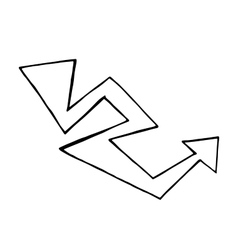 Hand drawn arrow doodle design element vector image vector image