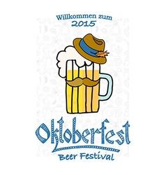 Hipster oktoberfest logotype vector