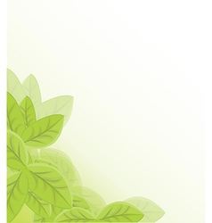 Leaf background vector image vector image