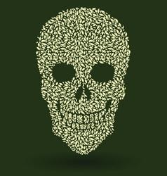 Leaf Skull Pattern vector image