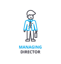 managing director concept outline icon linear vector image
