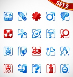 Medical icons new vector