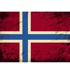 Norwegian flag grunge background vector