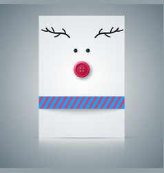 postcard deer sewing button vector image