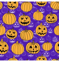 Purple halloween print seamless pattern with vector image