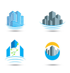 Real estate symbol and icons vector