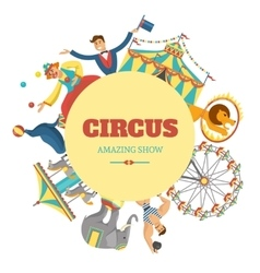 Round Circus Composition vector image vector image