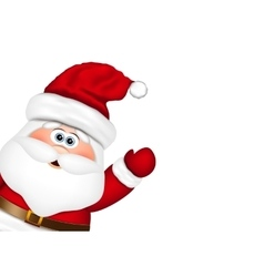 Santa Claus look from the side vector image