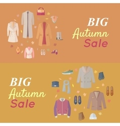 Seasonal sale concept in flat design vector