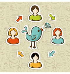 Social media RSS feed vector image vector image