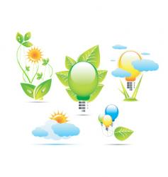 sun nature icons vector image vector image