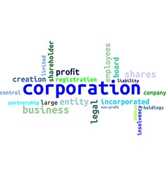 Word cloud corporation vector