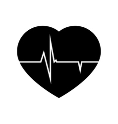 Icon cardio heart pulse isolated vector