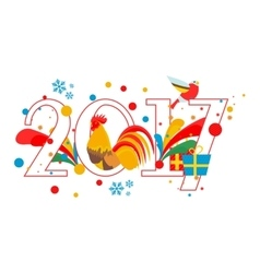 New year 2017 vector