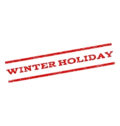 Winter holiday watermark stamp vector
