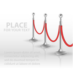 Stand rope barriers open vector