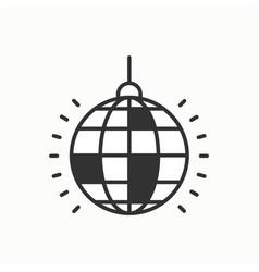disco ball icon disco dance nightlife club vector image