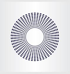 Geometric circle halfrone background element vector