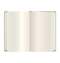 Open clear note book vector