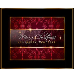 2016 Merry Chrstmas and Happy New Year Background vector image vector image