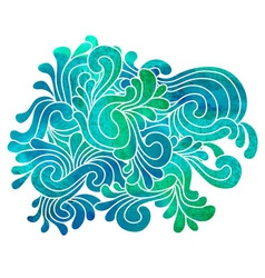 Green blue decorative composition vector