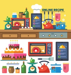 Find recipes online vector