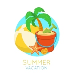 Tropic beach symbol vector