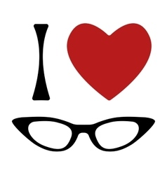 I love glasses print vector