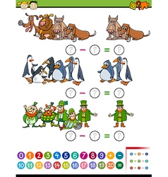 Math task for preschool children vector