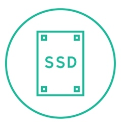 Solid state drive line icon vector