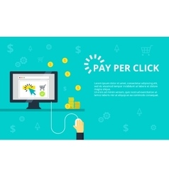 Pay per click  internet vector