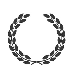 Laurel wreath symbol achievement vector