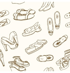 Woman shoes seamless vector