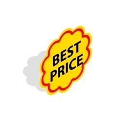 Label best price icon isometric 3d style vector