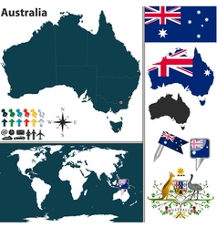 Australia world map vector