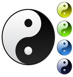 background yin-yang symbol vector image