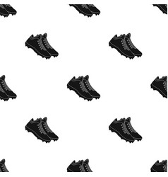 Baseball sneakers baseball single icon in black vector