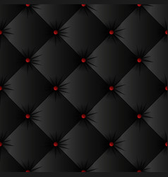 Black upholstery texture seamless pattern vector
