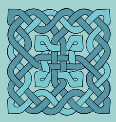 celtic blue pattern scandinavian ornament ribbon vector image