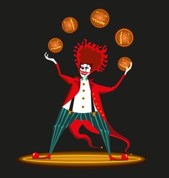 Clown from hell vector