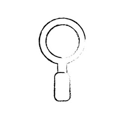figure magnifying glass instrument to exploration vector image